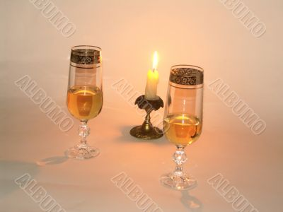 tumblers and candlelight