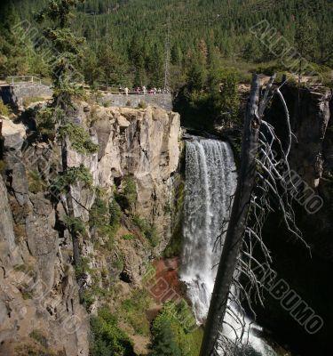 Waterfalls, viewpoint, Tumalo Falls,