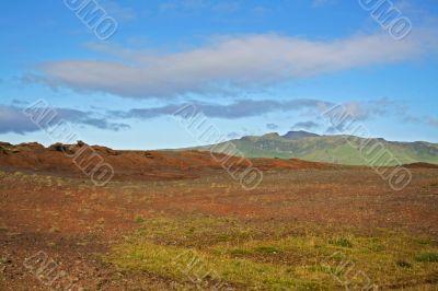 colorful icelandic land