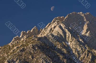Mt. Lone Pine and Moon
