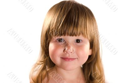 Serene portrait of little girl