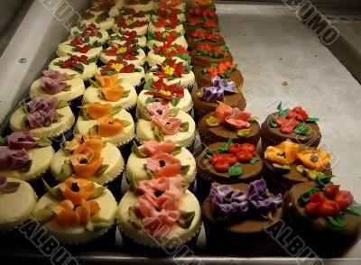 Festive Floral Cupcakes