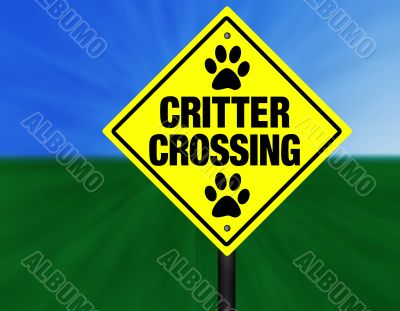 Critter Crossing Graphi Street Sign