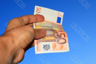 Euro in the hand