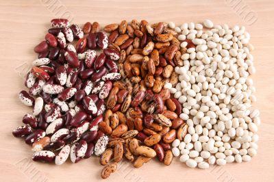 Assortment of various beans