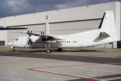 All-white airliner