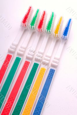 six tooth-brushes