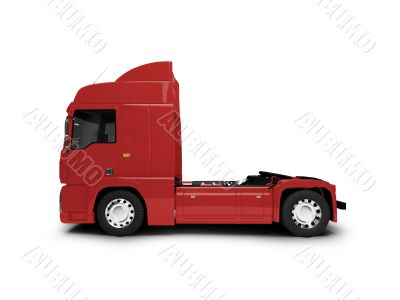 Bigtruck isolated red side view