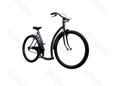 Bicycle isolated moto front view 01