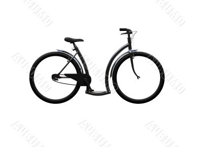 Bicycle isolated moto side view