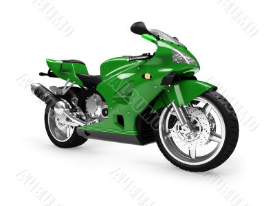 isolated motorcycle front view 01