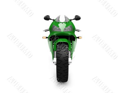 isolated motorcycle front view 03