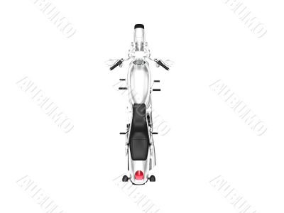 isolated motorcycle top view