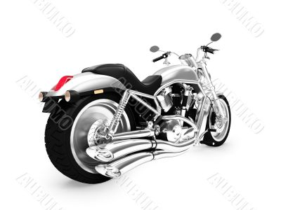 isolated motorcycle back view 01