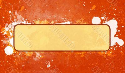 Abstract Grunge Paint Splatter Frame