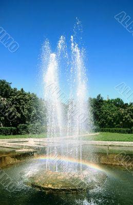 Birth of rainbow.