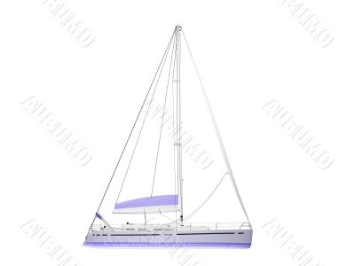 Vessel boat isolated side view