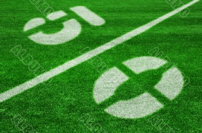 Fifty yard line-diagonal