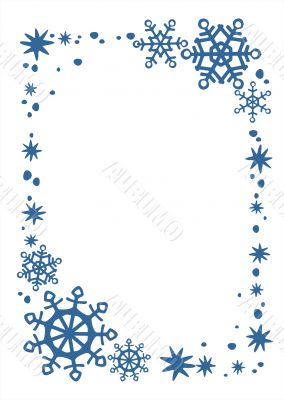 blue snow and stars border