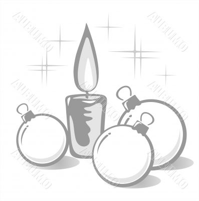 balls and candle contour