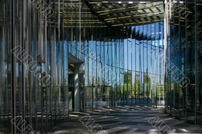 modern glas structure office building