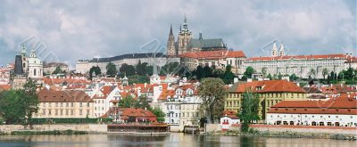 Panorama of city centre Prague.
