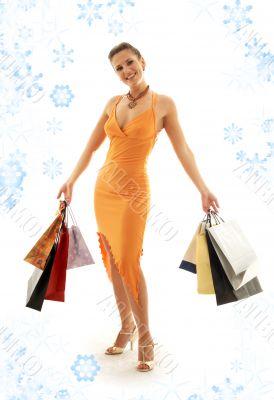 shopping euphoria with snowflakes 2