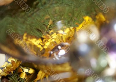 Close-up of yellow wineglass for background use