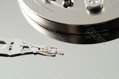 Close up of hard drive error