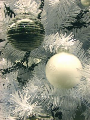 Christmas and New Year`s decorative ornaments