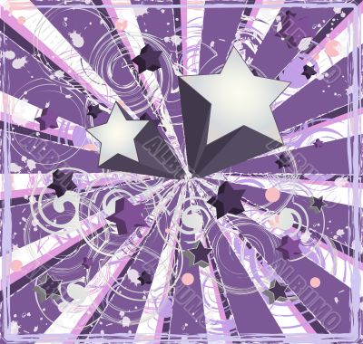 Purple Shooting Stars Background