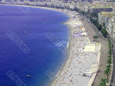Nice - beach, French Riviera