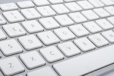 Wireless aluminum keyboard detail