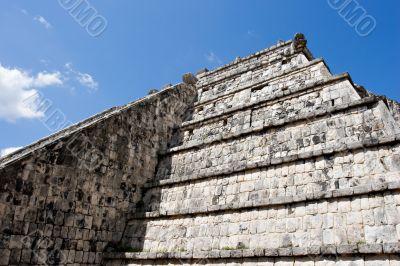 Ancient Mayan Pyramid Wall at Chichen Itza