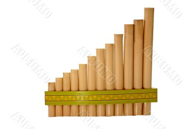 Panpipe isolated