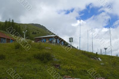 Meteorological station in mountain area