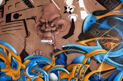 Niort, mural painting, detail