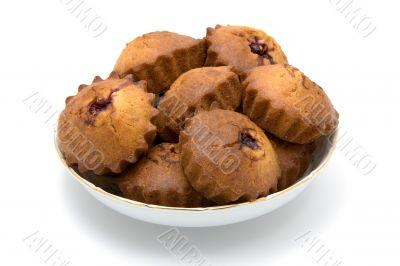 Tasty cherry cakes