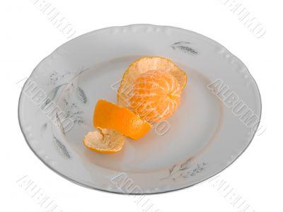 Peeled tangerines
