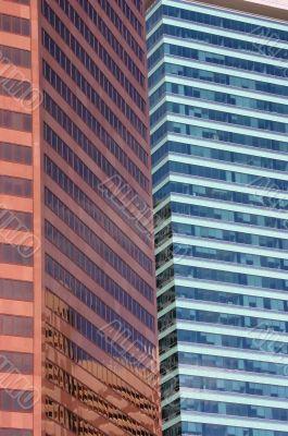 Modern buildings in urban core