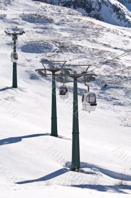 Cable car ski lift