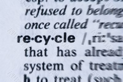 Recycle Word in the dictionary