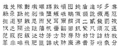 chinese vector characters v7
