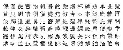 chinese vector characters v2