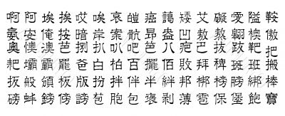 chinese vector characters v1