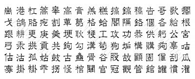 chinese vector characters v9
