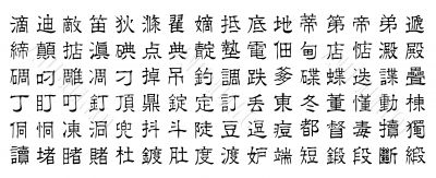 chinese vector characters v6