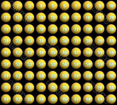 numbered lottery balls