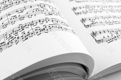 Pages of a music book