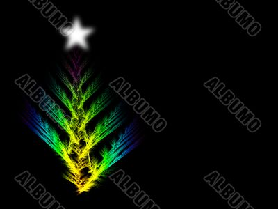 Colourful abstrract xmas tree with copyspace